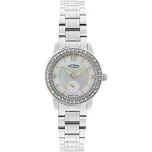 Rotary Women's Quartz Watch with Mother of Pearl Dial