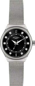 Rotary Women's Silver Watch Steel Mesh Bracelet